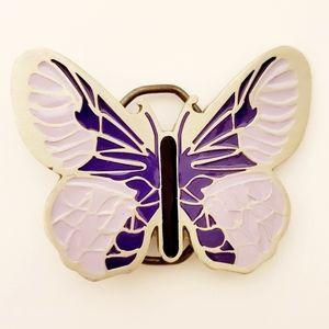 Lilac & Lavender Butterfly Belt Buckle
